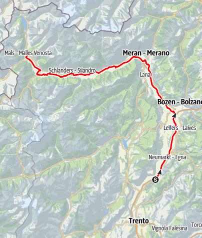 Map / Castelfeder – Merano - Val Venosta