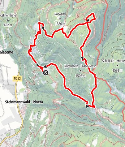 Mapa / Große Seitner Rundwanderung