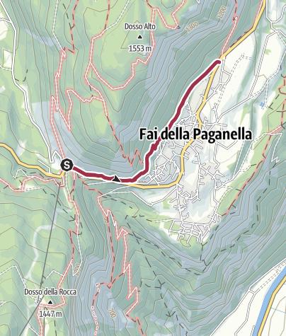 Cartina / Fai della Paganella - Sentiero Ardito Alberto