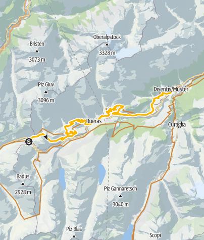 Karte /  Oberalppass – Disentis