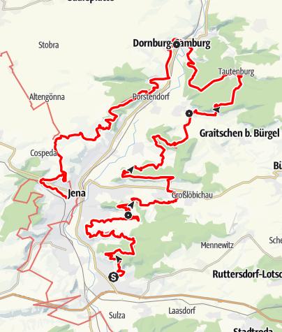 Karte / SaaleHorizontale Gesamttour