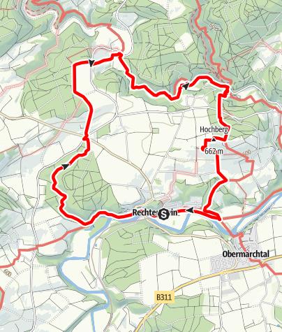 Karte / Alb-Donau-Kreis Eiszeitpfad - Donau-Hochberg-Tour