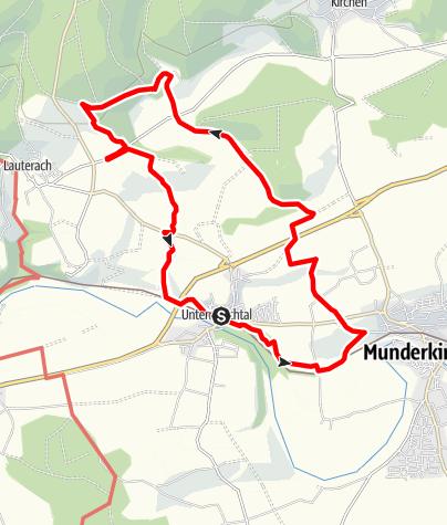 Karte / Alb-Donau-Kreis Eiszeitpfad - Schlossherrenrunde