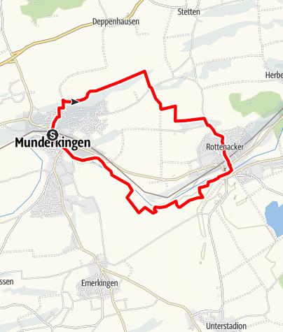Karte / Alb-Donau-Kreis Eiszeitpfad - Donauschleife