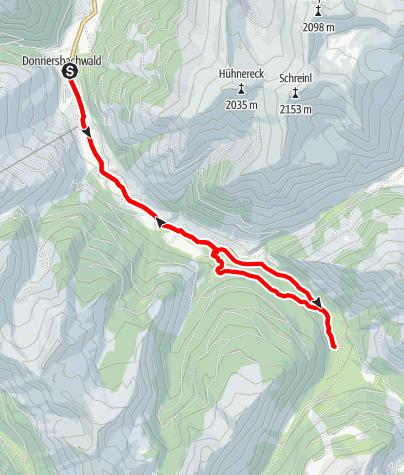Mapa / Riedleralm Runde