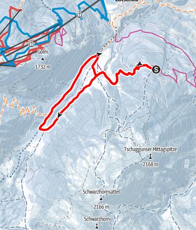 Map / Von Grabs ins Gauertal und retour