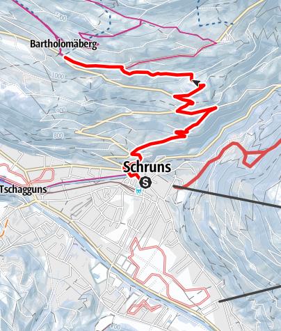 Map / Von Schruns auf den Bartholomäberg
