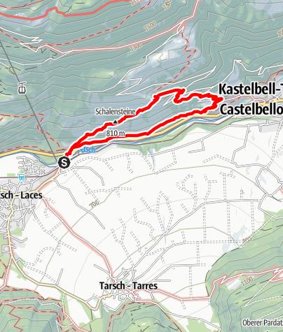 Cartina / Monte Sole, vista a perdita d'occhio sulla Val Venosta
