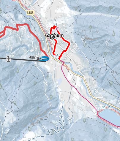 Map / Ortsrunde Gaschurn