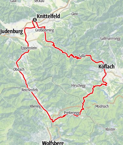 Karte / Gaberl - Pack - Obdacher Sattel