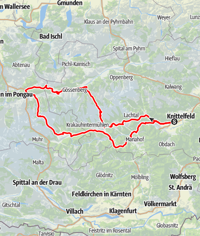 Karte / Red Bull Ring - Schöder - Sölkpass - oberes Ennstal - Schladming - Obertauern - Tamsweg
