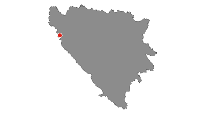 Map / Waterfalls in Martin Brod - Una National park