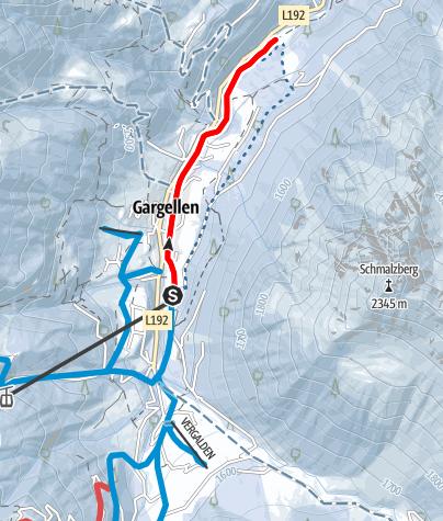 Map / Entlang des Suggadinbaches bis nach Borstboden (Gargellen)
