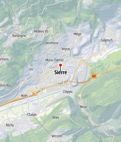 Map / Park + Ride SBB Sierre