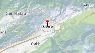 Map / Park + Ride SBB Sierre