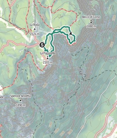 Cartina / Sentiero delle Aquile e Sentiero Botanico
