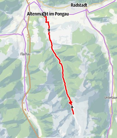 Karte / E-Bike Tour nach Zauchensee