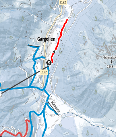 Karte / Variante Forstweg Schmalzberg (Gargellen)