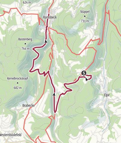 Karte / Bestwiger Panoramaweg - Etappe 2/4