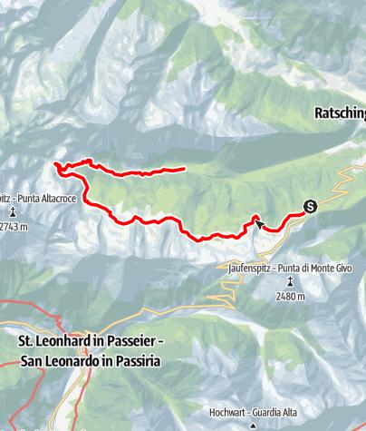 Mappa / Il Sentiero delle Malghe di Racines