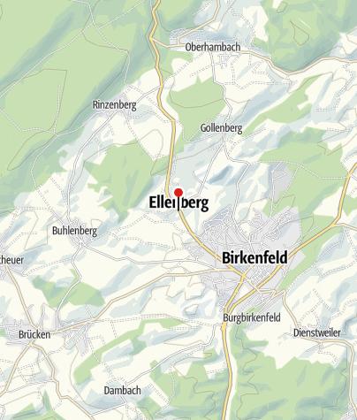 Karte / Pension Diehl, 55765 Ellenberg