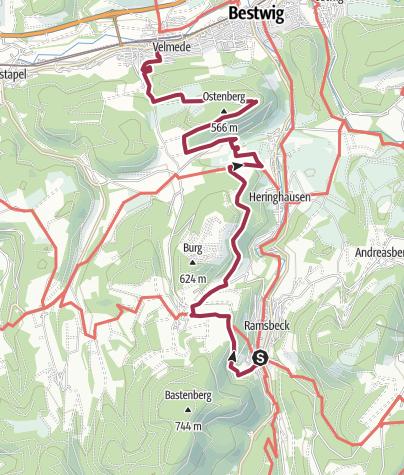 Karte / Bestwiger Panoramaweg - Etappe 3/4
