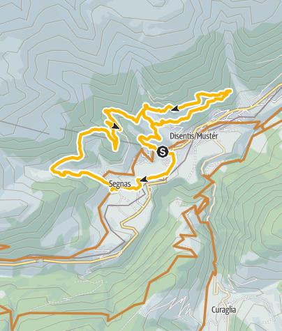 Karte / E - Tourenbike: Disentis - Plaun Menisch - Disentis