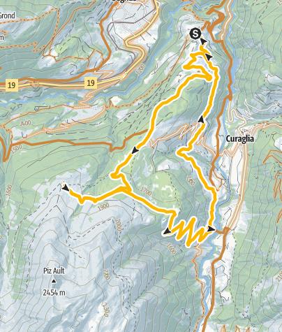 Karte / Mompé Medel - Alp Pazzola - Mompé Medel