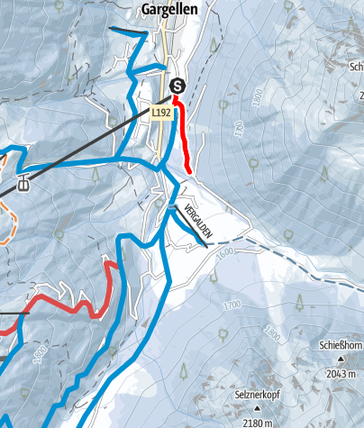 Map / Variante Vergalda Wäldle Gargellen