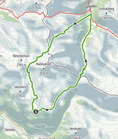 Karte / Schmugglertour (2-tägig) Schweiz/Österreich
