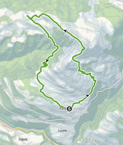 Karte / Panyer Panoramaweg (mit Chrüzgipfel)