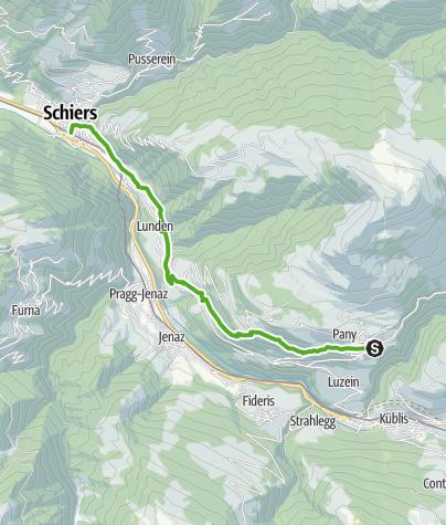 Karte / Von Pany nach Schiers
