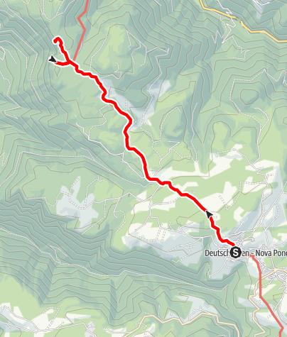 Karte / Wanderung zur Rotwand-Rotstein