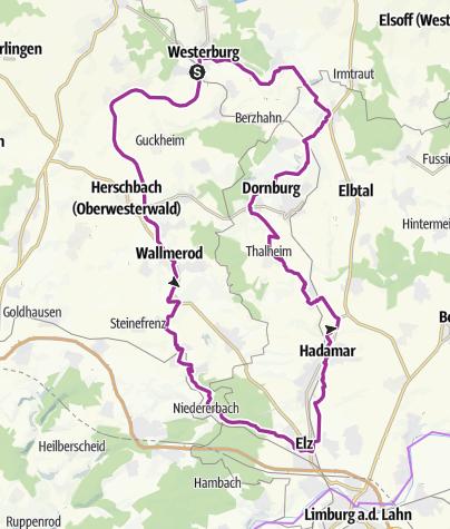 Karte / Nassau-Wäller-Radrunde