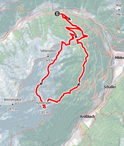 Karte / Naturschauplatz: Hühnerspiel Variante 2 (Oberbergtal)