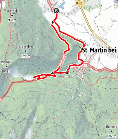 Karte / Über den Tirolersteig zur Wallfahrtskirche Maria Kirchental