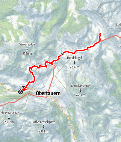Karte / Salzburger Almenweg - Etappe 24