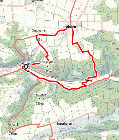 Karte / Alb-Donau-Kreis Eiszeitpfad - Albwassertour