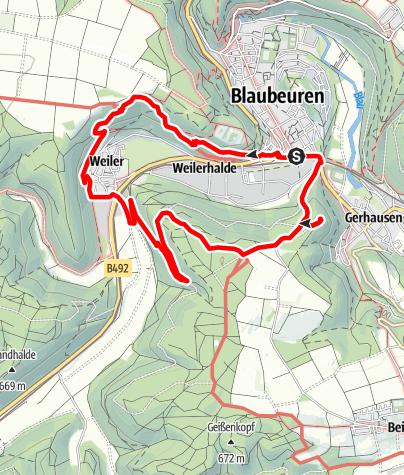 Karte / Alb-Donau-Kreis Eiszeitpfad - Eiszeitjägerpfad