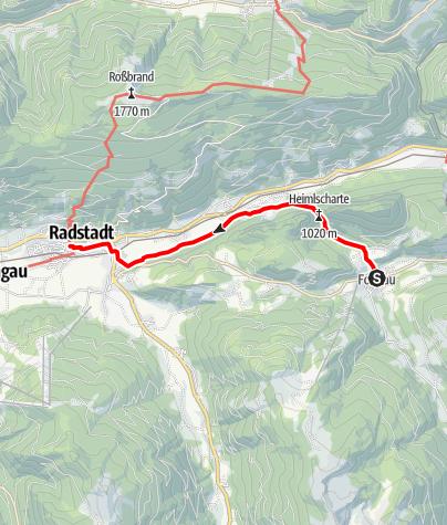 Karte / Salzburger Almenweg - Etappe 26