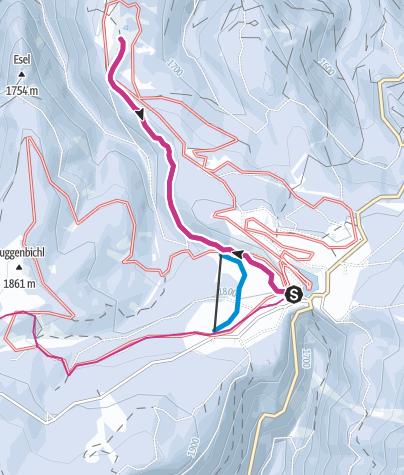 Karte / Winterwanderung zur Liegalm