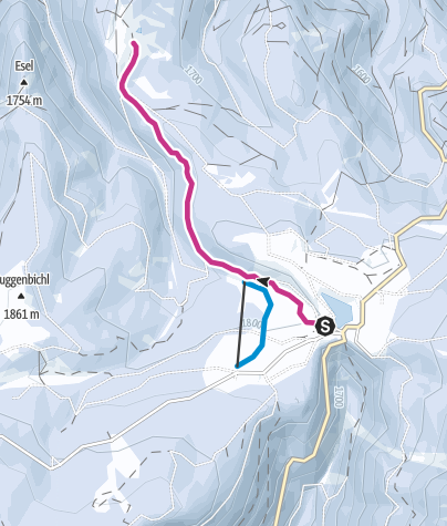 Map / Winter walk to Malga Costa