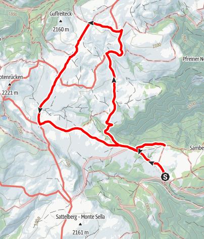 Карта / Zur Stöffelhütte auf der Villanderer Alm