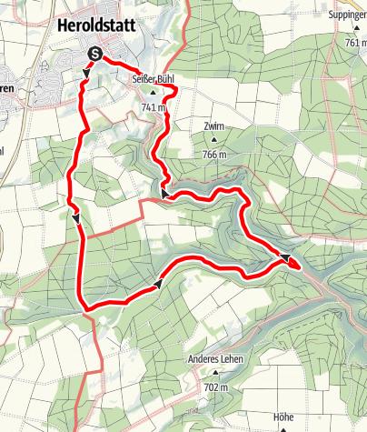 Karte / Alb-Donau-Kreis Eiszeitpfad - Sontheimer Höhlentour