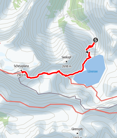 Kaart / Schesaplana, 2.964 m | Brand