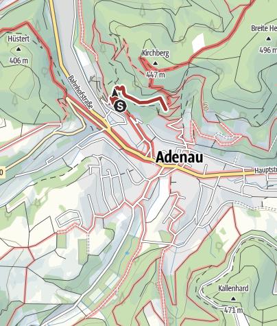 Karte / Der Adenauer Kreuzweg - Kulturdenkmal und Stätte der Besinnung