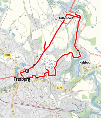 Karte / Auf dem Silbernen Panoramaweg (Freiberg)