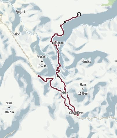 Map / Blace - Boracko Jezero (Via Dinarica day 30)