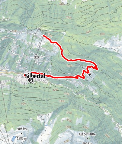 Karte / Silbertal-Kristberg-Trail