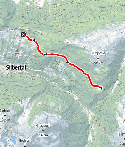 Karte / Wildried-Höhenstrecke